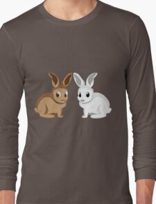 White and brown rabbits Long Sleeve T-Shirt