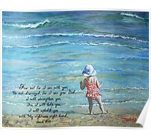 Stepping Out Into the Unknown Isaiah 41:10 Poster