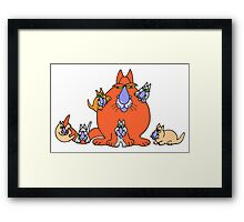 Family first Framed Print
