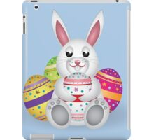 Cute small white lovely bunny with colorful Easter eggs iPad Case/Skin