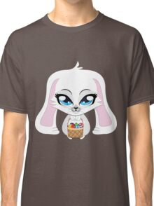 White bunny with Easter eggs Classic T-Shirt