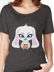 White bunny with Easter eggs Women's Relaxed Fit T-Shirt