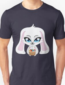 White bunny with Easter eggs Unisex T-Shirt