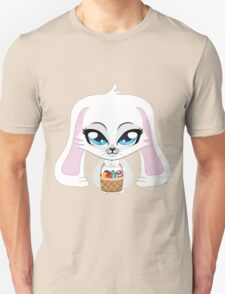 White bunny with Easter eggs T-Shirt