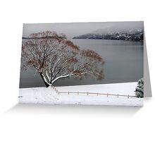 Toboggan Tree Greeting Card
