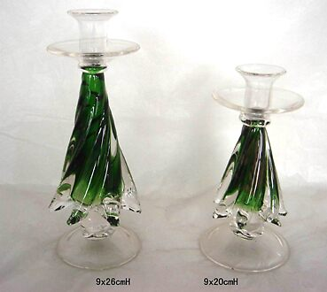 glass candle holders by sharonacme