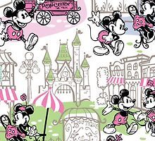 Dooney and Bourke Mickey Minnie Downtown print iPhone case by Emily2015