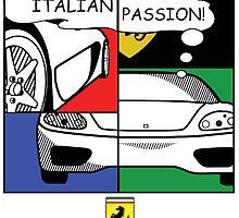 Ferrari Poster by Mathew Woodhams