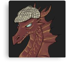 The Hobbit Smaug, Sherlock crossover Canvas Print