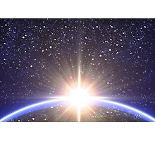 Sun and planet Photographic Print