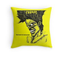 Bad music for Bad people Throw Pillow