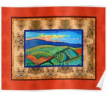 Plowed Fields in Tuscany Poster
