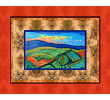 Plowed Fields in Tuscany Photographic Print