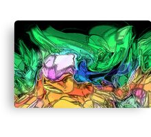 The Effort of Green Canvas Print