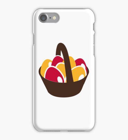 Easter eggs basket iPhone Case/Skin