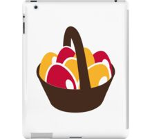Easter eggs basket iPad Case/Skin