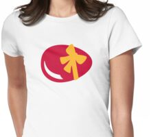 Easter egg bow Womens Fitted T-Shirt