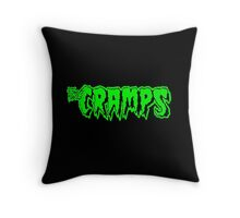 The Cramps (green) Throw Pillow