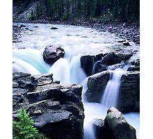 Athabasca Falls blue Photographic Print