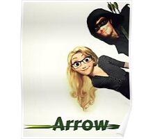 Olicity Tangled Arrow Crossover Poster