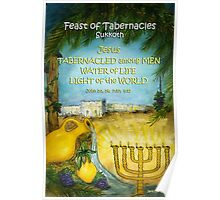 Jesus in The Feast of Tabernacles Poster