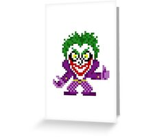 Crowned Prince of Crime Greeting Card
