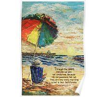 Umbrella Sunrise- Lamentations 3:22-23 Poster