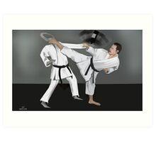 Karate Corky Art Print