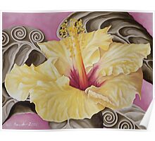 Yellow Hibiscus Poster