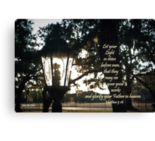 House Lantern- Matthew 5:16 Canvas Print