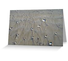 Wet sand Greeting Card