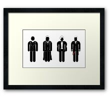 Dr Who - 4 modern doctors  Framed Print