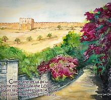 Road To Eastern Gate- Isaiah 2:3 by Janis Lee Colon