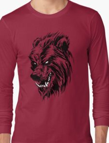 Black Werebear Long Sleeve T-Shirt