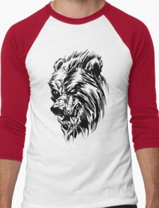 Black Werebear Men's Baseball ¾ T-Shirt
