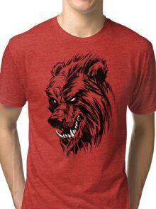 Black Werebear Tri-blend T-Shirt