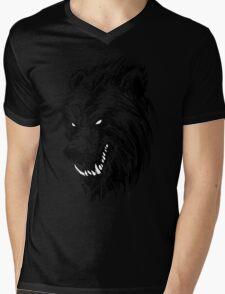 Black Werebear Mens V-Neck T-Shirt