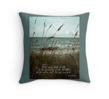 Beach Grass Oats- Isaiah 11:8-10 Throw Pillow