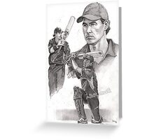 Stephen Fleming - Black Cap tain Greeting Card