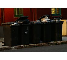 Overflowing bins. Photographic Print
