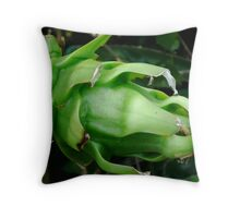 Green Pitaya Throw Pillow