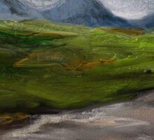 Mountains & Moorland Britain Art Sticker