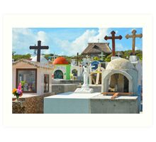 Cemetery by The Sea Art Print