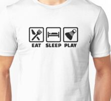 Eat Sleep Play Badminton Unisex T-Shirt