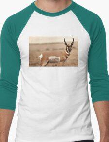 Pronghorn Antelope Men's Baseball ¾ T-Shirt