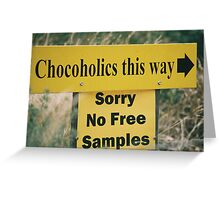 Hmm ... chocolate ... d'oh! Greeting Card