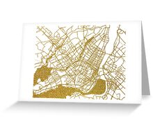 Montreal map Greeting Card
