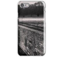 Frosty farm fence in Indiana iPhone Case/Skin
