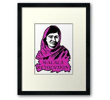 Malala Revolution Framed Print