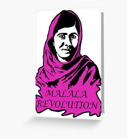 Malala Revolution Greeting Card